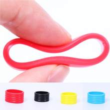 3Pcs Tennis Racket Fix Ring Silicone Tool Reusable Soft Fix Tennis or Badminton Racket Grip Protect Rackets(China)