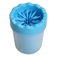 Dog Paw Foot Wash Portable Pet Cleaning Brush Cup Green Blue Pink Size S M For