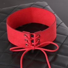 Trendy Woman Velvet Choker Necklaces Girls Bow-Knot Rope Chain Red Pink Wide Neck Necklace Collier Femme collier ras du DZXL094