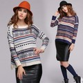 New Arrival Spring Autumn Women Stripe Pullover Thick Warm Sweater Knitting Round Neck Long Sleeve Casual Knitted Tops 41