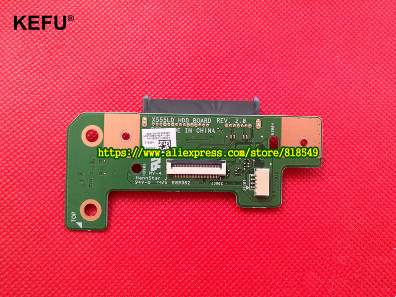 Original Part X555L X555LD HDD hard drive BOARD X555LD HDD BOARD REV:2.0 original for asus laptop x555l x555ldb hdd hard drive board x555ld hdd board 69n0r7c20b02 01 test good free shipping