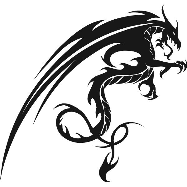 Car decals dragon 15x14cm car motorcycle truck decals vinyl waterproof outdoor stickers