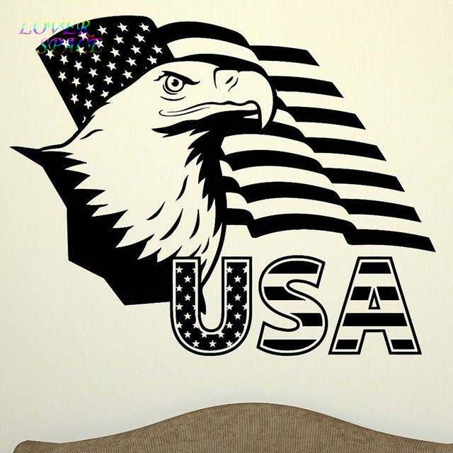 Wall Decal United States Flag America Eagle Symbol Usa Vinyl Wall