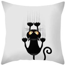 Gajjar 45 * 45 Cat Square decoración del hogar dormitorio Dropshipping almohadas de apoyo para el cuello geométrico