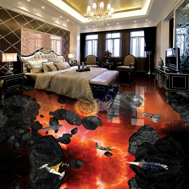 ФОТО Free shipping photo flooring waterproof wear non-slip mural Meteorite Earth 3D bathroom living room bedroom floor wallpaper