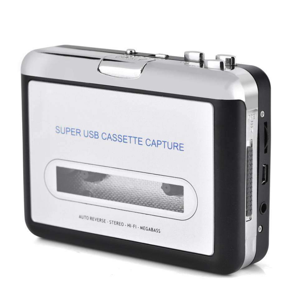 Dansrueus Unused Cassette to MP3 Converter USB Cassette Player from Tapes to MP3 PC and Mac Silver 022