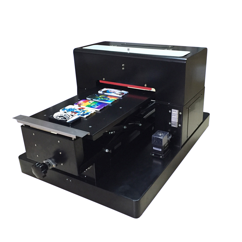 White Ink Flatbed Printer A3 size UV printer for phone case , business card , alunimum , leather ,pen etc flatbed printer 6 color uv led flatbed printer white white ink phone case printer
