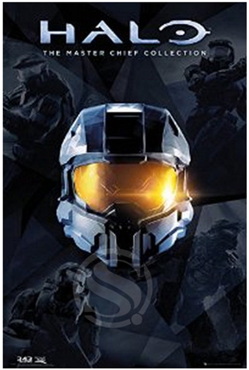 HALO-The Master Chief Collection - Gaming Poster Custom Canvas Poster Art Home Decoration Cloth Fabric Wall Poster Print Silk
