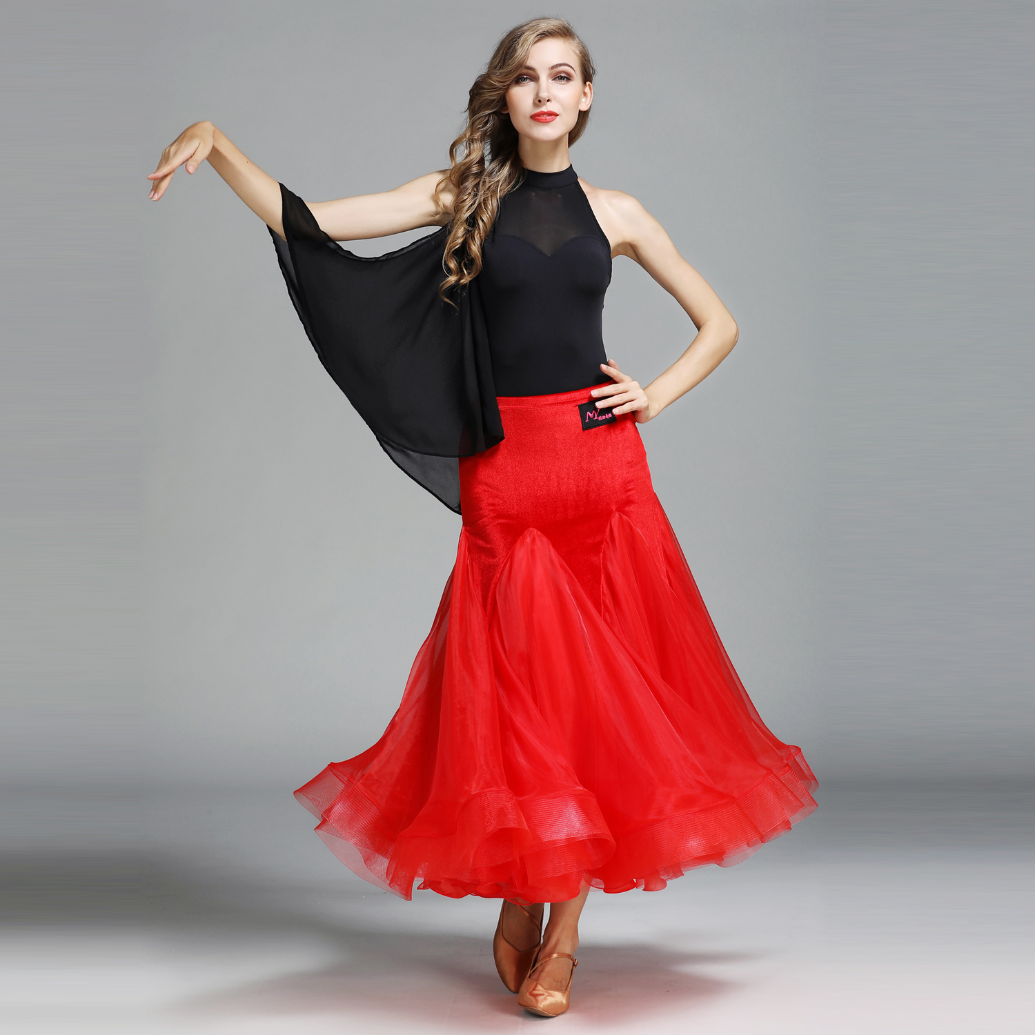 Modern Dance Costume Top and Skirt Suits Women Lady Adult Dance Dress Ballroom Costume Practice Clothes Evening Party Dress