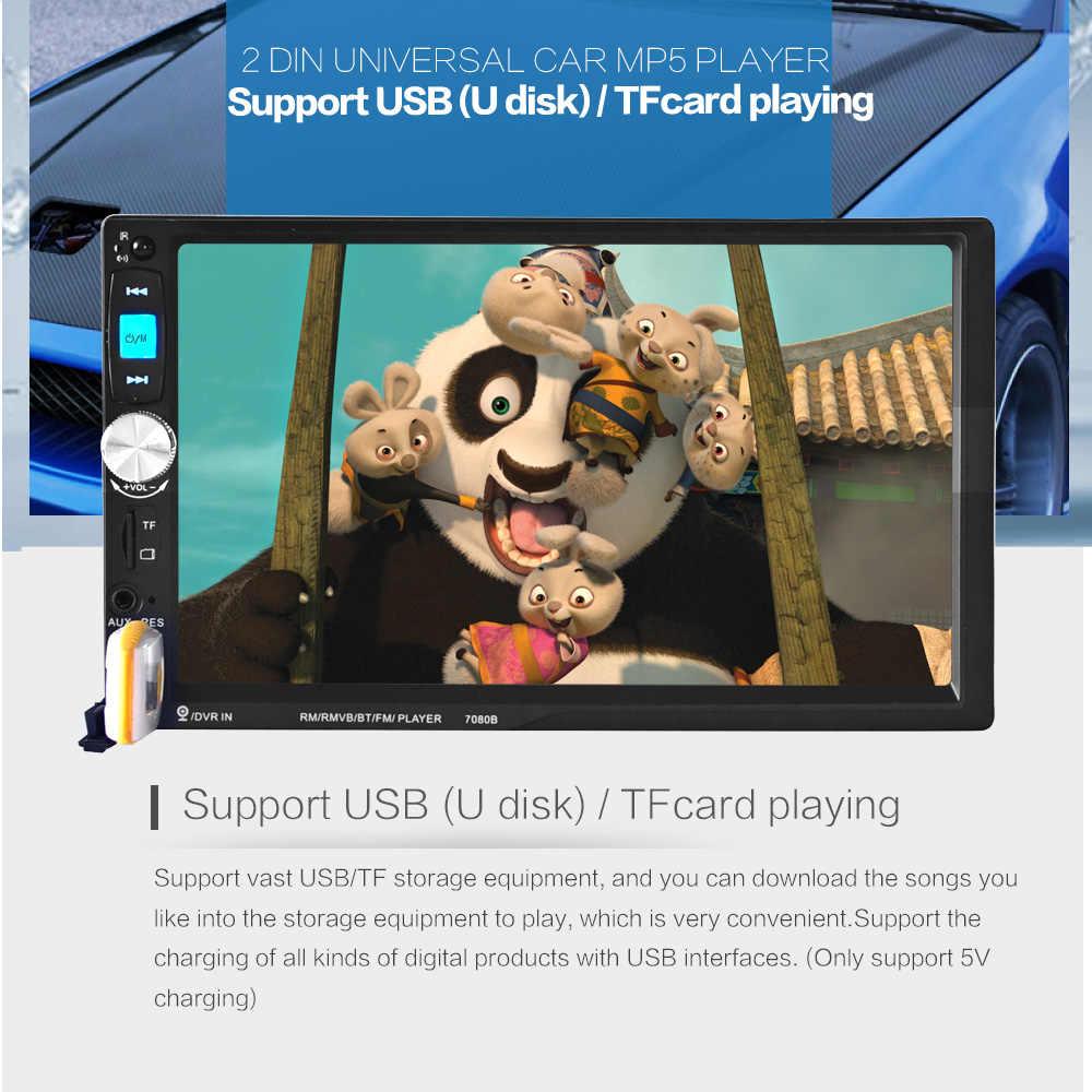 Nowy 7 cal HD ekran TFT o przekątnej radio samochodowe z bluetooth MP3 MP4 MP5 12V odtwarzacz audio stereo samochodu wsparcie widok z tyłu samochodu kamera TF /SD 1 DIN
