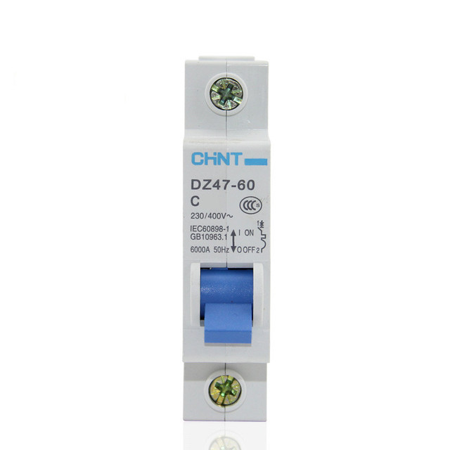 CHNT MCB Mini Household Circuit breaker C type DZ47-60 1 Pole 32Amp  230V