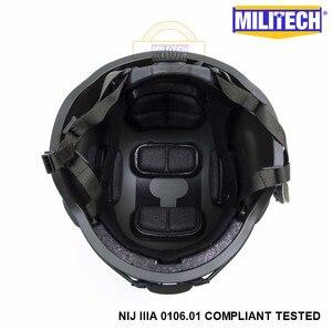 Image 5 - MILITECH Oliver Drab OD MICH NIJ Level IIIA Tactical Bulletproof Aramid Helmet ACH ARC OCC Dial Liner Aramid Ballistic Helmet
