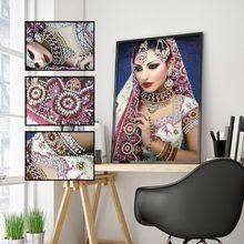Красивая девушка 5D алмазная живопись особой формы вышивка рукоделие горный хрусталь кристалл вышивка крестиком Набор сделай сам