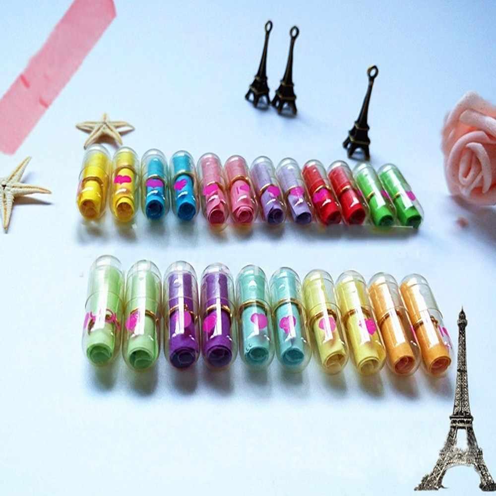 50Pcs Mini Carino Trasparente a Forma di Cuore Messaggio Lettera Capsula Multi-Colore del Cuore di Amore Messaggio Pillole Capsule di Favore di Partito spdc2a23
