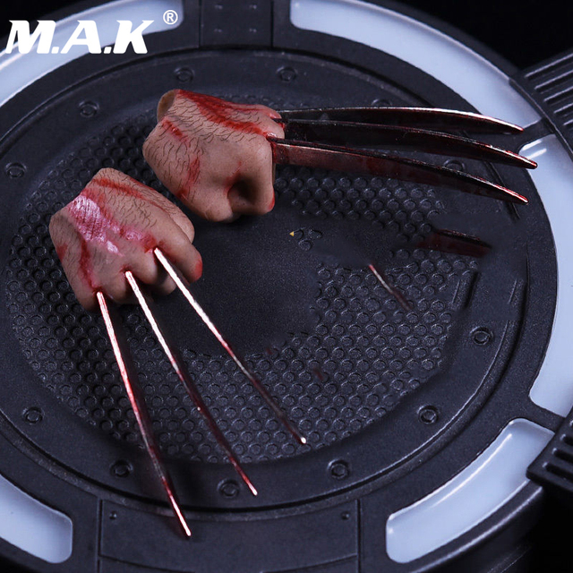 1:6 Flexible JX04B and JXO4A fist clawS hand typeS For Wolverine 12 Inches Figure Body Collections Toys Brinquedos Accessories