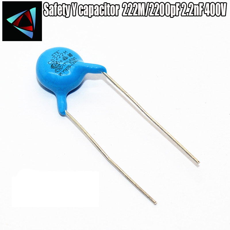 20PCS 222M/2200pF 2.2nF 400V Safety Y capacitor image