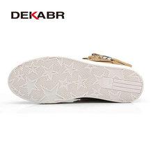 DEKABR 2019 Hot Men Shoes Fashion Warm Fur Winter Men Boots Autumn Leather Footwear For Man New High Top Canvas Casual Shoes Men