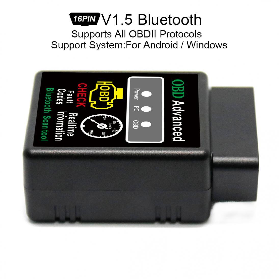 Супер Мини Bluetooth сканер V1.5 чип Беспроводной Авто V02H2-1 Интерфейс автомобилей Читатели код инструмент диагностики OBDII протоколы