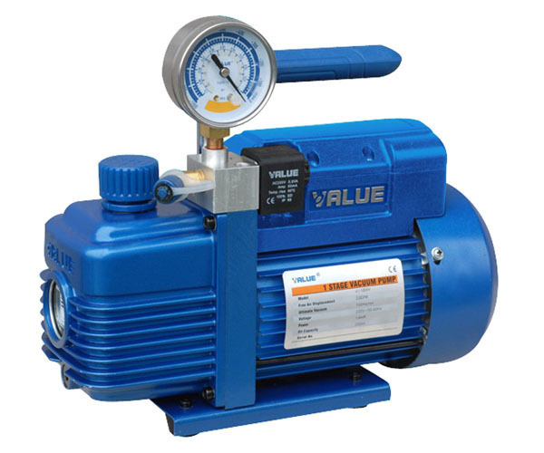 Single-Stage Vacuum Air Pump for 1L suction filtration used in lab, with negative pressure gauge