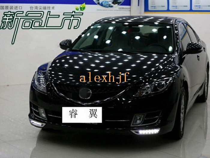 July King LED Daytime Running Lights DRL Case for Mazda 6 Rui Yi, LED Front Bumper DRL, 1:1, Replacement, Free Shipping