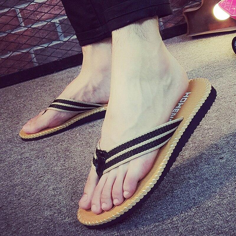 Herrenschuhe Flip-flops Mutig Männer Slipper Sandales Eva Hausschuhe Männer Nähen Sandalia Masculina Chaussure Homme Sommer Schuhe Nd254
