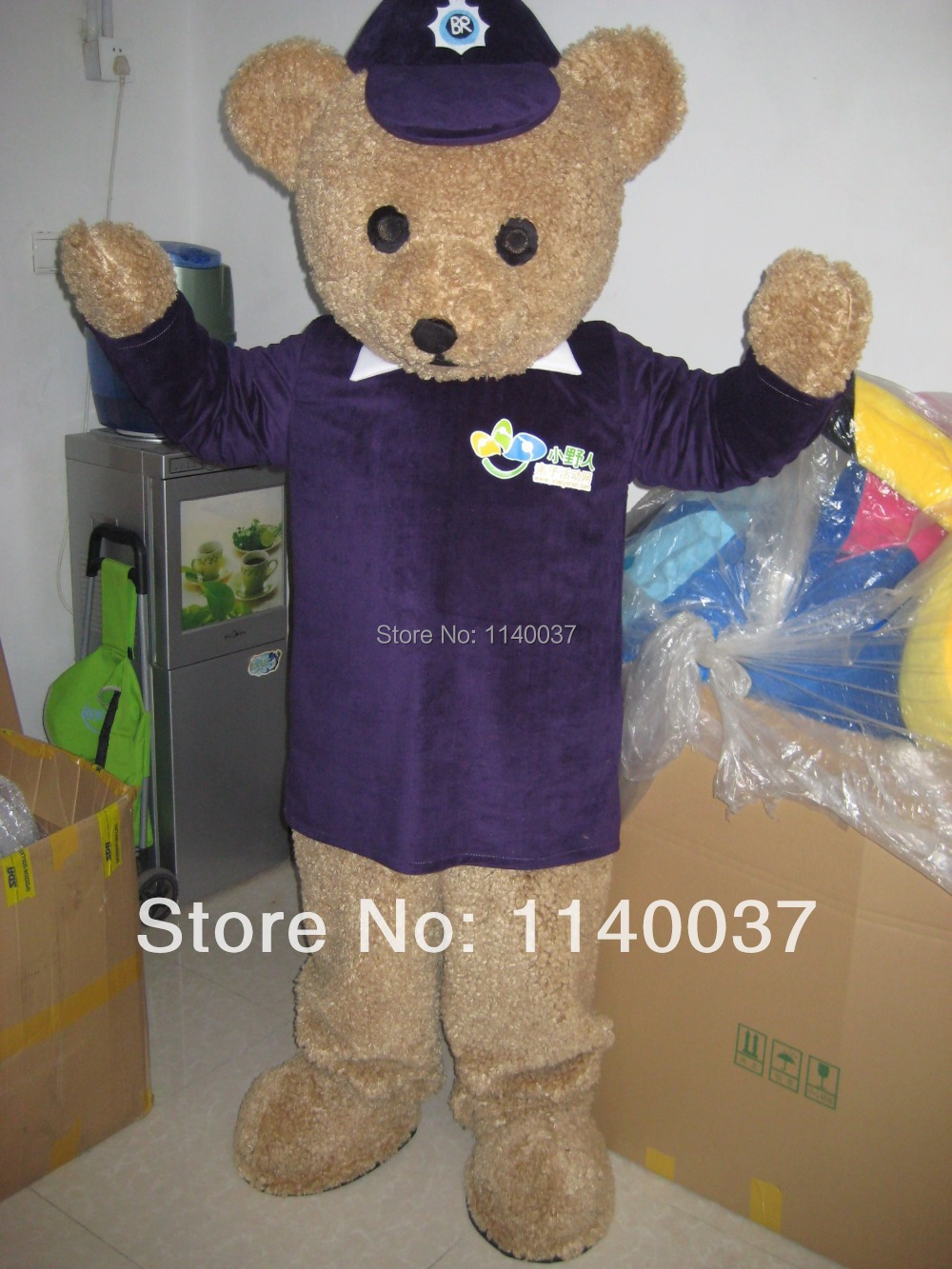 Mascotte ours ted mascotte Costume personnalisé fursuit fantaisie costume cosplay kits fantaisie robe carnaval robe anime thème