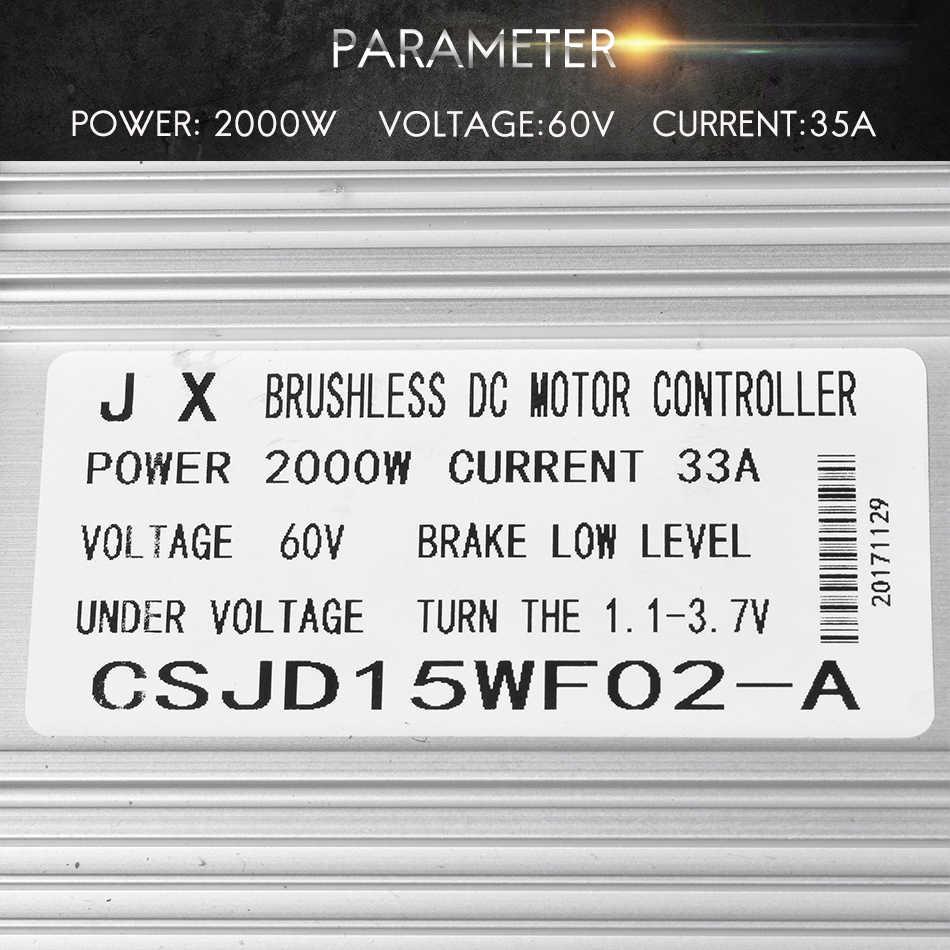 אופניים חשמליים בקר 60 V 2000 W 33A 15 Mosfet דואר אופני מנוע brushless בקר אופניים מנוע bldc בקר