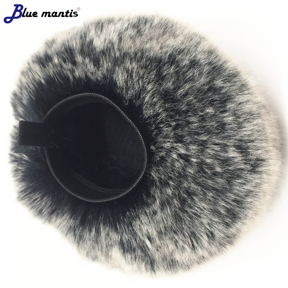Blue MantisOutdoor Artificial Fur Wind Microphone Cover Muff Windscreen Sleeve Shield For SONY PCM-A10 Dead Cat For SONY PCM-A10