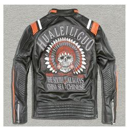 Free shipping dhl brand clothing genuine leather jackets men s leather biker jacket motorcycle winter warm.jpg 250x250