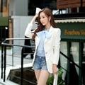 Original 2016 Brand Autumn Small Coat Handsome Slim Casual Elegant Blazer Women White Wholesale