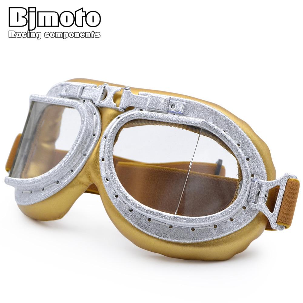 BJMOTO 2018 Antrojo pasaulinio karo Vintage Motociklų 'Gafas' motociklų akinių stiklai Senoji mokykla 'Pilotas'