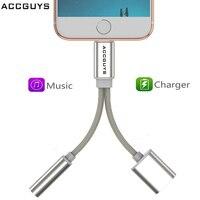 ACCGUYS 3,5 мм разъем 2 в 1 зарядный аудио переходник для наушников аудио сплиттер конвертер для iPhone XR XS Max X 8 7 Plus 6