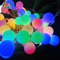 2017 Nuevos 9 Colores la bola LED de Cuerda 10M 80 LED Decoraccion para Jardin y Casa Luces Navidad Novedad de la Boda Eventos