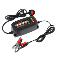 12V 5A Car Smart Lead Acid Battery Charger Automobile Accumulator Charger Car 4 Stage Switching Mode LED Indicator Light UK Plug