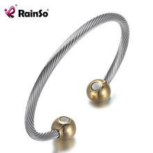 RainSo Copper Bracelets & Bangles for Women Health Magnetic Adjustable Charm Wire Cubic Bangle TOP SALE Drop-ship Jewelry(China)