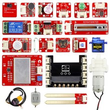 Elecrow Crowtail Learning Starter Kit for Micro:bit 2.0 Graphical Programming DIY Beginners with 17pcs Basic Crowtail Modules