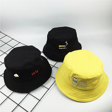 Cncool Cigarette Embroidery Bucket Hat Fun Foldable  Fisherman Hats Women Summer UV Protection Sun Cap Letter Adult Couple Caps