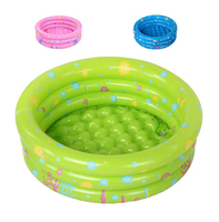 Free shipping! 3 Rings 94x38cm Ocean World Inflatable Baby pool baby swimming pool,round shape kids pool(Blue/Green/Pink)