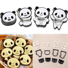 Panda DIY Cake Decoration 3D Creative Baking Cookie Cutters Theme Birthday/Baby Shower Party Cookies Decor Supplies
