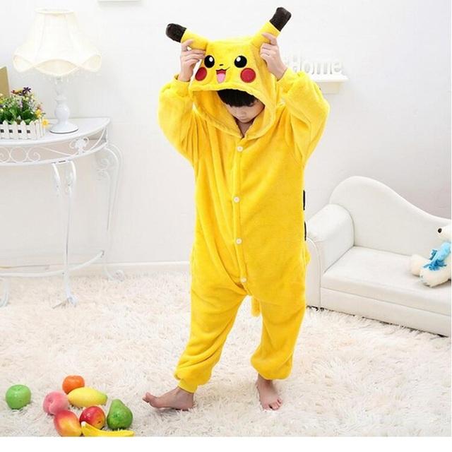 Bebé Niñas Mameluco Pocket Monsters Pikachu Lindo Traje de Ropa Infantil de Manga Larga Pijamas 2016 Niños Pokemon Mamelucos