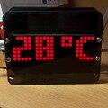 Dot Matrix LEVOU Kit Relógio DS3231 Criativo DIY Área de Trabalho Precisa Eletrônica Digital Alarm Clock Display de Temperatura