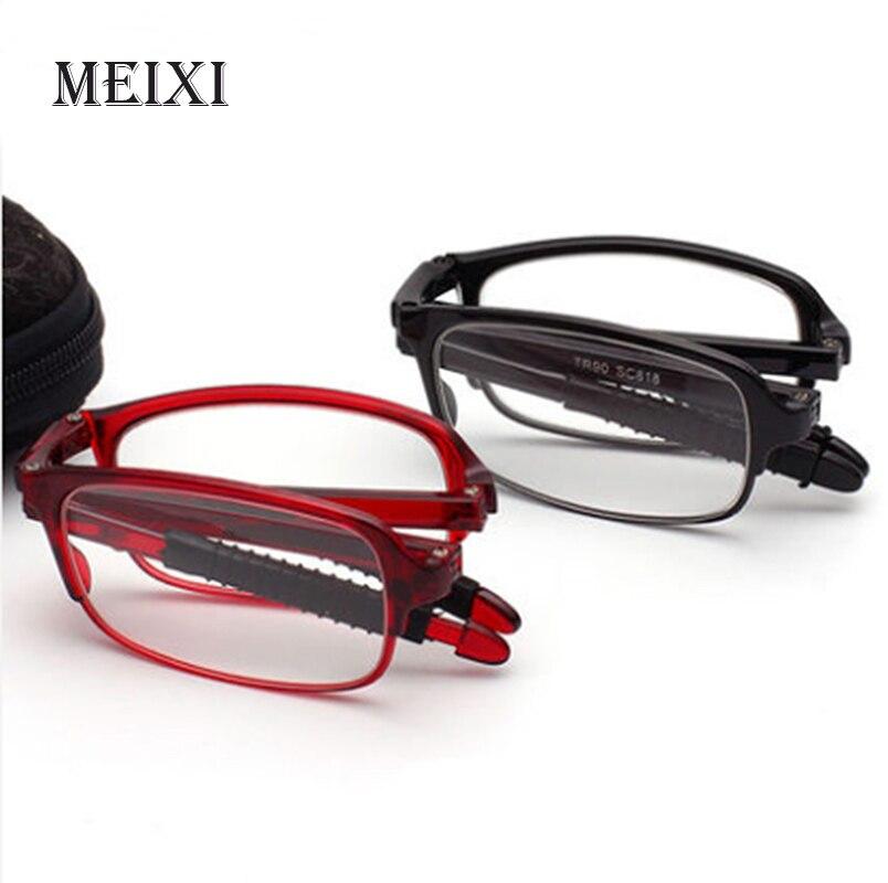TR90 Ultra Leve resina Asférica óculos de Leitura Dobrável Óculos Mulheres  Homens Moda Unissex Óculos + 1.0 1.5 2.0 2.5 3.0 3.5 4.0 7874f8485d