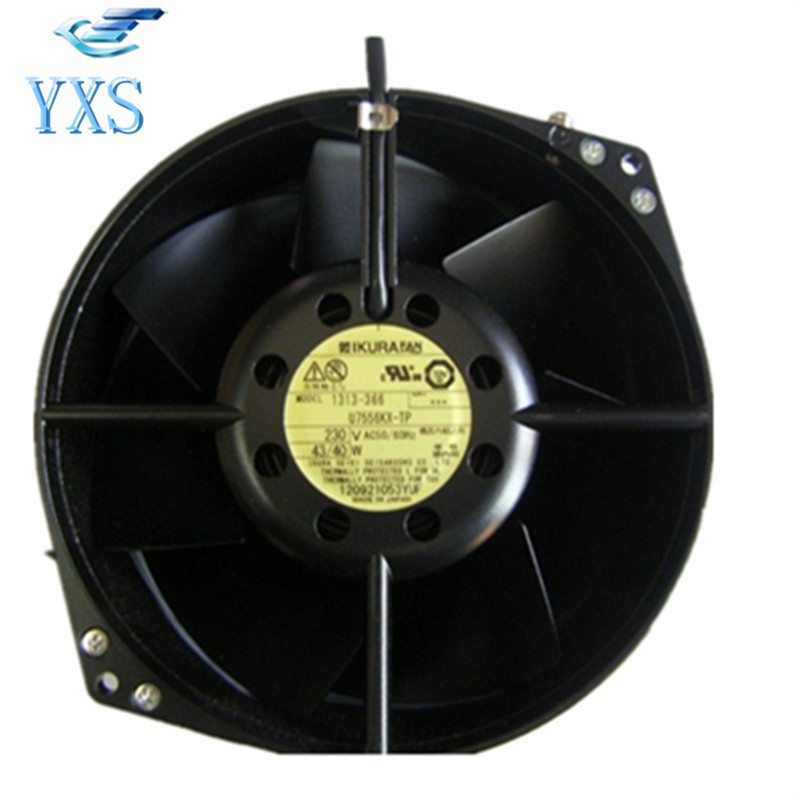 U7556KX-TP AC 230V 43W/40W 2650RPM 17255 17CM 172*150*55mm 2 Wires High Temperature Cooling Fan blower cooling fan w2s130 aa03 01 ac 230v 45w 2800rpm 7855es high temperature resistant fan 17cm 172 150 55mm 17255