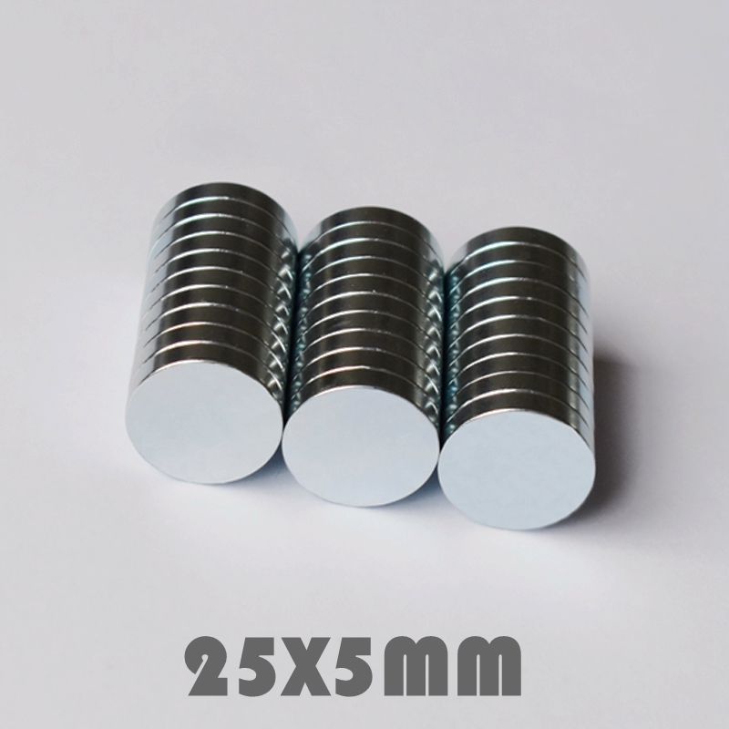 5 10 30pcs 25x5 mm Super Powerful Neodymium Magnets Free Shipping N35 25 5 mm Rare Earth Magnet Neodymium Magnets For Crafts in Magnetic Materials from Home Improvement
