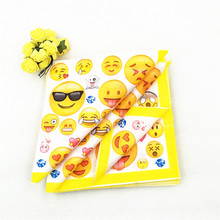 20pcs/lot SmileFace Party Supplies Paper Napkin Baby Shower Theme Favors Girl Cartoon Birthday Decoration
