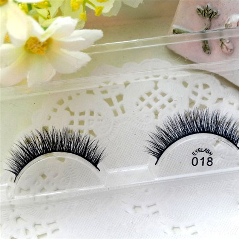 2017 * makeup Hot eyelashes Women Soft 3D Mink Hair Simulation Thick Stage Fake Eyelashes G