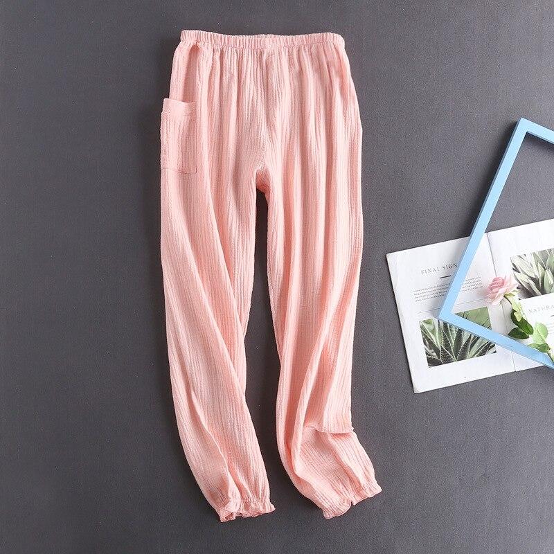 Sinnvoll Spring Pijama Women Loose Pajamas Soft Pyjamas 100% Cotton Gauze Sleepwear Pants Online Shop Unterwäsche & Schlafanzug