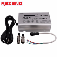 110V 220V RGB Led DMX Decoder Console Controller Dimmer for 110V/220V RGB Led Neon Strip Light 1320W 3CH x 2A DMX300