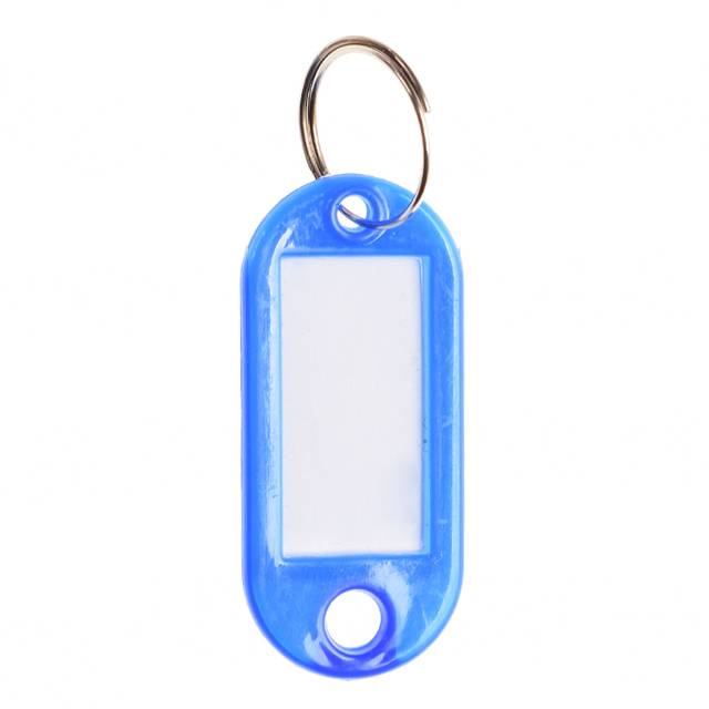 10PCS Colorful Key ID Labels Name Tags Split Ring Car Door Keyring Keychain Tags With Split Ring For Baggage Luggage Tag Travel 2