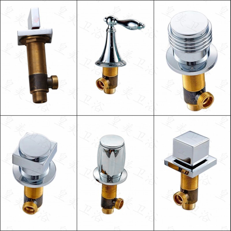 Free Shipping 100% Brass Bathtub Faucet Hot or Cold Water Switch ...